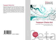 Capa do livro de Taxpayer Choice Act