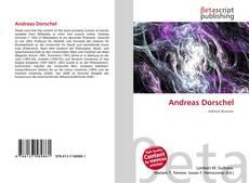 Couverture de Andreas Dorschel