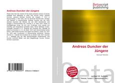 Buchcover von Andreas Duncker der Jüngere