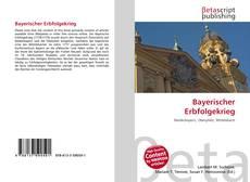 Bookcover of Bayerischer Erbfolgekrieg