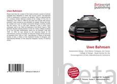 Portada del libro de Uwe Bahnsen