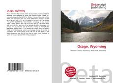 Bookcover of Osage, Wyoming