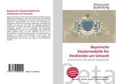 Buchcover von Bayerische Staatsmedaille für Verdienste um Umwelt