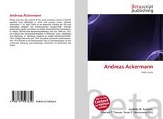 Portada del libro de Andreas Ackermann