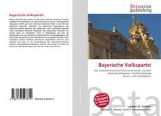 Bookcover of Bayerische Volkspartei