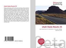 Utah State Route 25 kitap kapağı