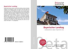 Bookcover of Bayerischer Landtag