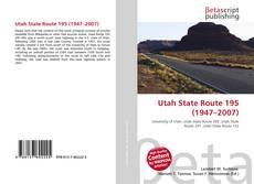 Copertina di Utah State Route 195 (1947–2007)