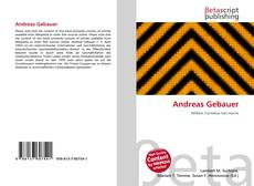 Bookcover of Andreas Gebauer