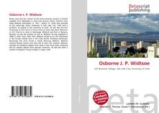 Bookcover of Osborne J. P. Widtsoe