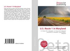 Bookcover of U.S. Route 1 in Maryland