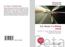 Bookcover of U.S. Route 1 in Rhode Island