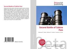Bookcover of Second Battle of Sabine Pass