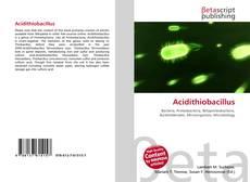 Acidithiobacillus kitap kapağı