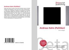 Bookcover of Andreas Hahn (Politiker)