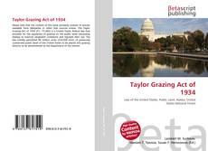 Couverture de Taylor Grazing Act of 1934