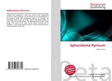 Bookcover of Sphaceloma Pyrinum