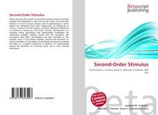 Second-Order Stimulus kitap kapağı