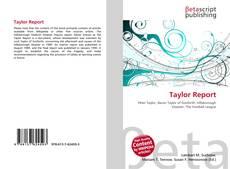 Buchcover von Taylor Report