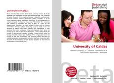 Bookcover of University of Caldas