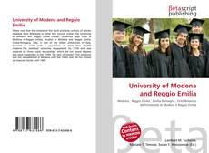 Bookcover of University of Modena and Reggio Emilia