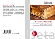 Pontifical University kitap kapağı