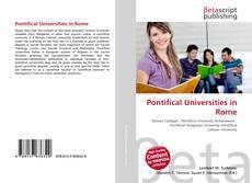 Pontifical Universities in Rome kitap kapağı