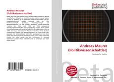 Portada del libro de Andreas Maurer (Politikwissenschaftler)