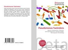 Pseudomonas Taetrolens kitap kapağı