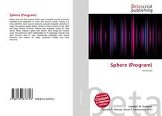 Capa do livro de Sphere (Program)