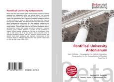 Pontifical University Antonianum kitap kapağı