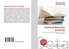 Pontifical Bolivarian University kitap kapağı