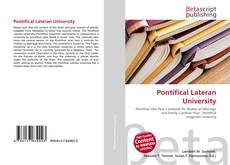 Pontifical Lateran University kitap kapağı