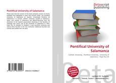 Pontifical University of Salamanca kitap kapağı