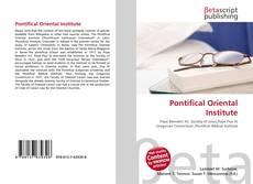 Pontifical Oriental Institute kitap kapağı