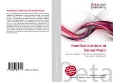 Pontifical Institute of Sacred Music kitap kapağı