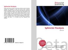 Bookcover of Sphincter Paralysis
