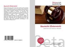 Bookcover of Baurecht (Österreich)