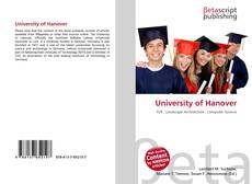 Bookcover of University of Hanover