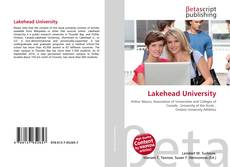 Bookcover of Lakehead University