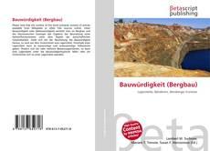 Buchcover von Bauwürdigkeit (Bergbau)