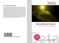 Bookcover of Osiris (Marvel Comics)