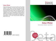 Buchcover von Oskar Pfister