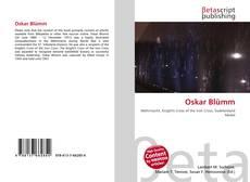 Buchcover von Oskar Blümm