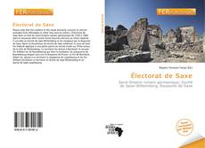 Capa do livro de Électorat de Saxe