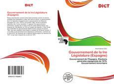 Capa do livro de Gouvernement de la Ire Législature (Espagne)