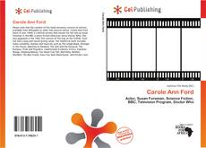Capa do livro de Carole Ann Ford