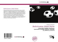 Couverture de Badrulzaman Abdul Halim