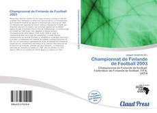 Championnat de Finlande de Football 2003 kitap kapağı