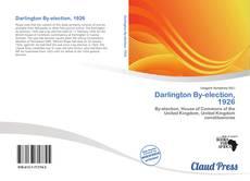 Darlington By-election, 1926 kitap kapağı